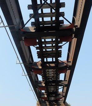 Under, Rail Tracks, Path, Bridge, Construction