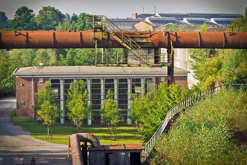 Architecture, Industry, Factory Building, Building