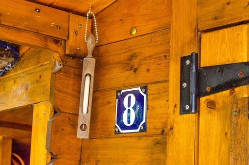 House Number, Number, House Entrance, Building, Blue