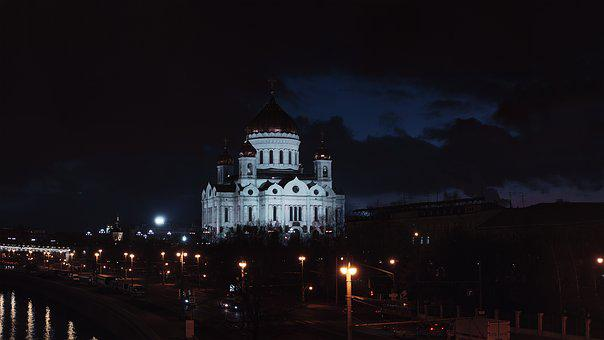 Christ The Savior Cathedral, Moscow, Night City