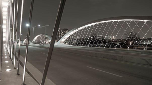 Bridge, Structure, Steel, Concrete, Architecture