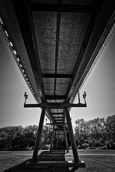 Bridge, Span, Suspension, Construction, Structure