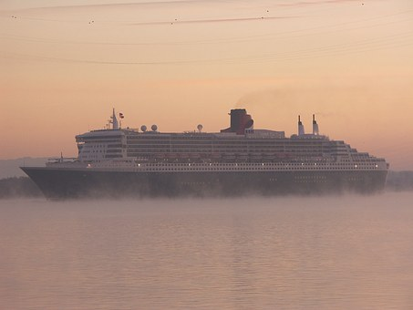 Queen Marie 2, Fog, Shipping, Cruise, Good Morning