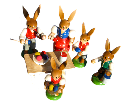 Easter Bunny Family, Paint, Easter Eggs, Easter