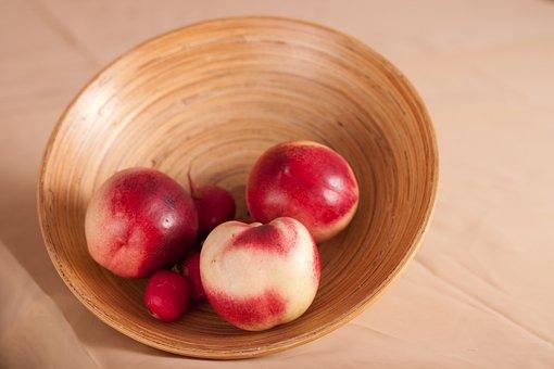Fruits, White, Apple, Radish, Green, Red, Vegetable