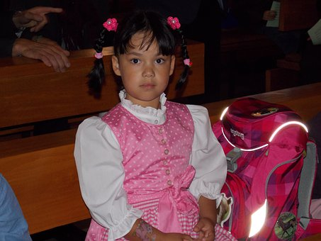 Girl, Schoolgirl, First Day Of School, Child, Cute
