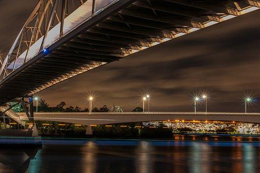 Goodwill, Bridge, River, City, Brisbane, Calm