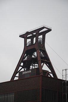 Zollverein, Headframe, Ruhr Area, Carbon, Bill, Old