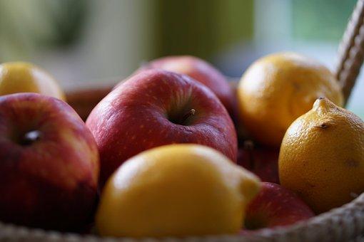 Apple, Lemon, Basket, Fruit, Fruits, Vitamins, Healthy