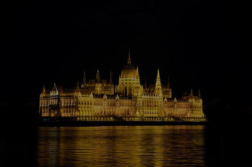 Hungarian Parliament, At Night, Walk, In The Evening