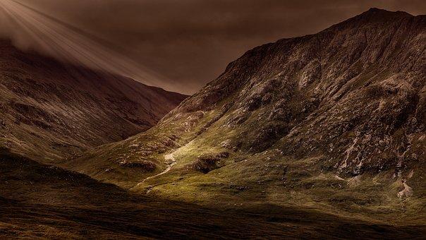 Mountains, Panorama, Landscape, Massif, Outlook, Mood