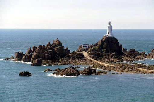 Lighthouse, Tower, Coast, Beacon, Atlantic, Jersey