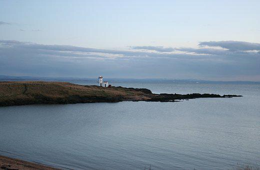 Scotland, Lighthouse, Bay, Sea, Coast, Landscape, Rock