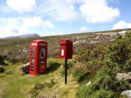Scotland, Highlands And Islands, Phone Booth, Mailbox