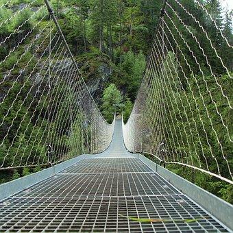 Bridge, Railing, Rope, Metal Bridge Railings