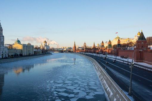 The Kremlin, River, Winter, Moscow