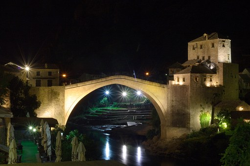 Bosnia And Herzegovina, Herzegovina, Mostar, Old Bridge