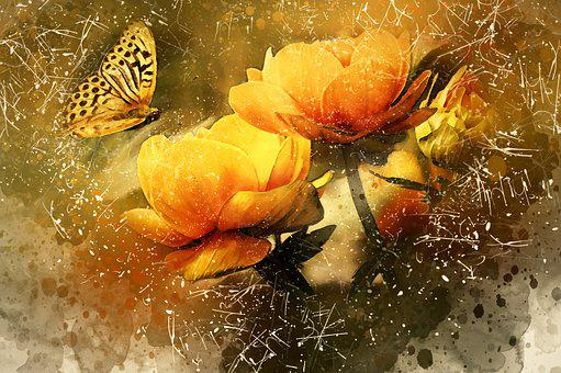 Butterfly, Yellow, Flowers, Nature, Insect, Summer