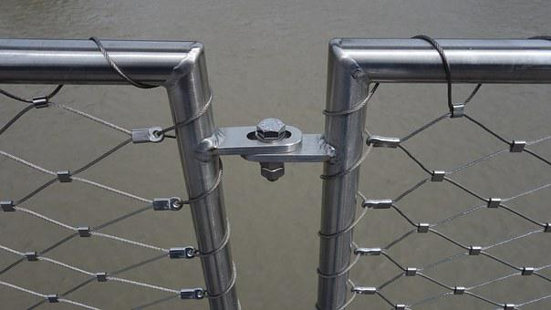 Wire, Pipes, Railing, Bridge Railing, Regularly