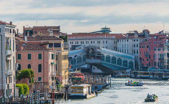 Venice, Italy, Rialto Bridge, Construction, Grand Canal