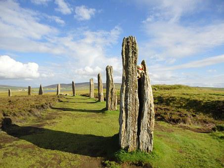 Orkney Island, Ring Of Brodgar, Stone Circle, Landscape