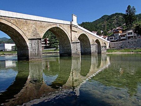 Old Bridge, Bosnia And Herzegovina, Konjic, River