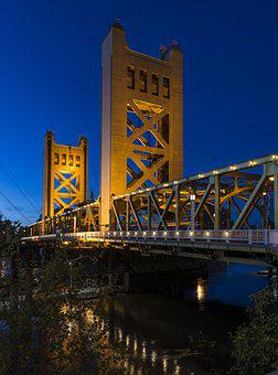 Tower Bridge, Sacramento, Yolo County California