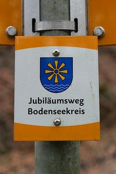 Shield, Signposts, Jubilee Way Bodenseekreis, Directory