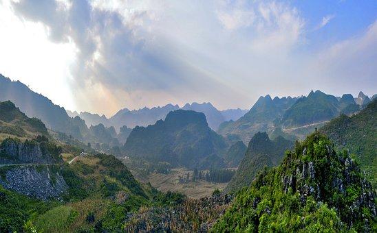 Kathy, Sky, Vietnam, Scenery, Mountai Range