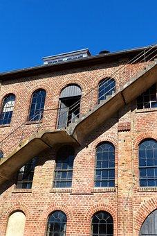 Old Brickyard, Brick, Factory, Stairs, Industry, Lapsed