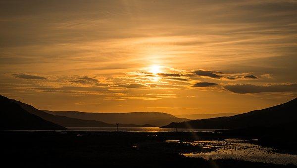Sunrise, Skye, Sligachan, Scotland, Isle Of Skye