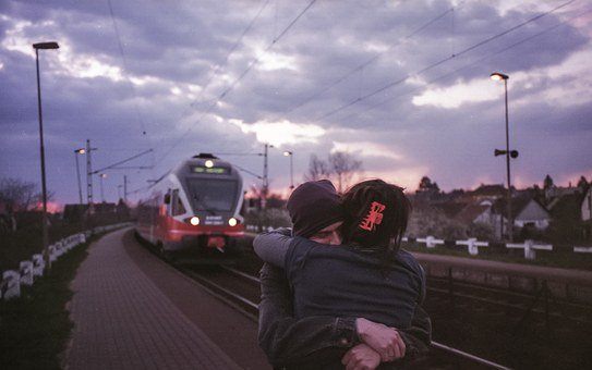 Together, Couple, Love, Train Station, Couple In Love