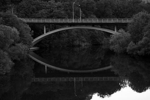 Bridge, Transition, Water, Crossing