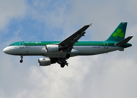 Aer Lingus, Plane, Airplane, Aircraft, Sky, Air, Flight