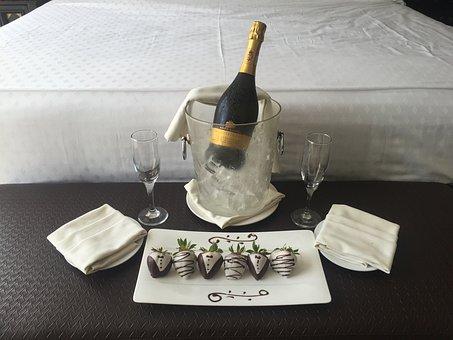 Chocolate Strawberries, Champagne, Anniversary