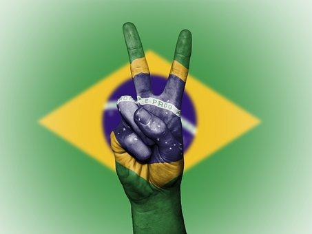 Brazil, Brazilian, Flag, Peace, Background, Banner