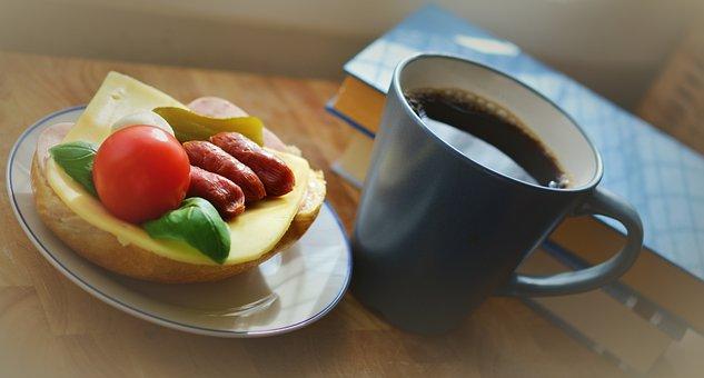 Breakfast, Snack, Sandwich, Cup Of Coffee