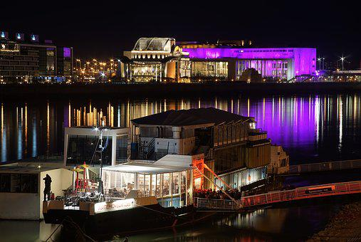 Danube, Budapest, Palace Of Arts, National Theatre
