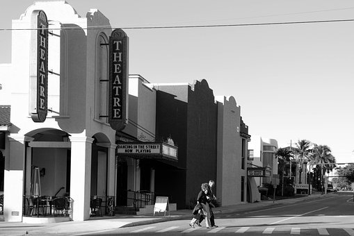 Town, Theater, Sarasota, Architecture, Building