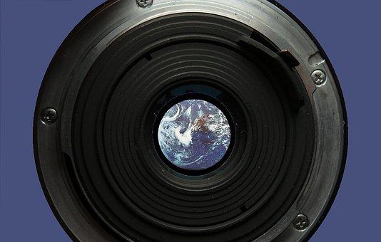 Lens, Earth, Globe, Focus, Camera, Photograph
