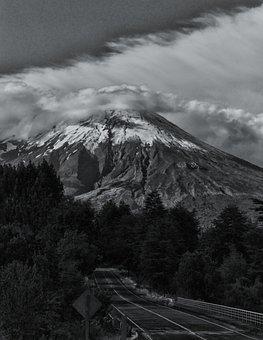 Chile, Volcano, Landscape, South America, Villa Rica