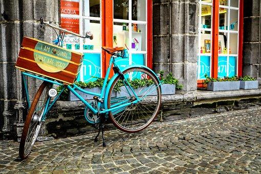 Belgian, Street Details, Bicycle, Brugge, City, Street