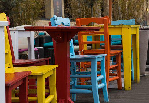 Colorful, Chairs, Dining Tables, Modern, Sit, Easter