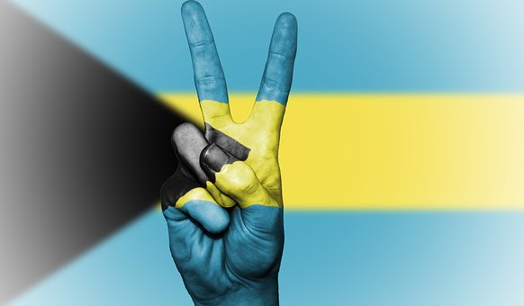 Bahamas, Flag, Peace, Background, Banner, Colors