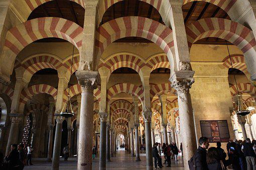 Cordoba, Mosque, Moorish, Architecture Backlight, Spain