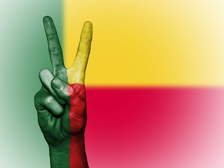 Benin, Flag, Peace, Background, Banner, Colors, Country