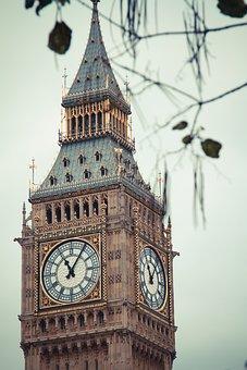 Big Ben, London, Clock, England, Great Britain