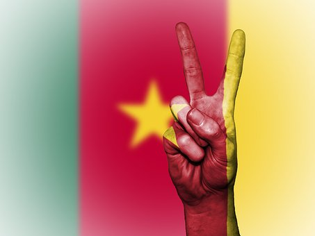 Cameroon, Flag, Peace, National, Country, Cameroonian