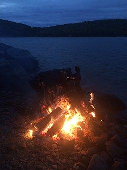Bonfire, Fire, Flame, Campfire, Nature
