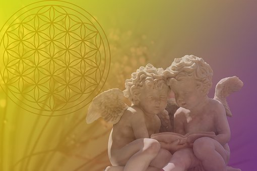 Flower Of Life, Angels, Spiritual, Esoteric, Yellow